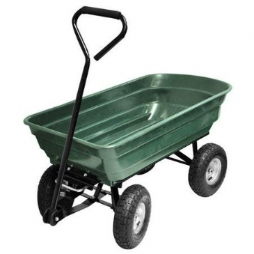 Kingfisher Gardening Heavy Duty Garden Cart 4 WHEEL TIPPING ACTION CART